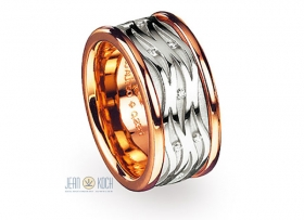 Bunz Design Brillant-Ring<br/>Platin-Rosegold und Brillanten